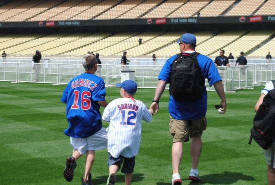 Fans on Field in LA